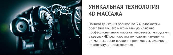 Новая технология 4D массажа в кресла Fujiiryoki EC-3900